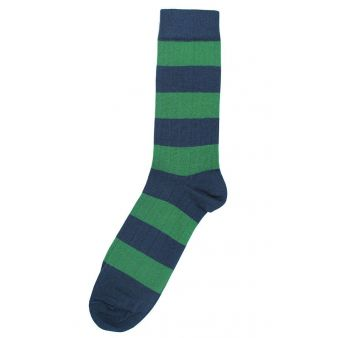 Calcetín rayas azul y verde