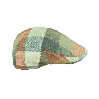 Italian green checked cap