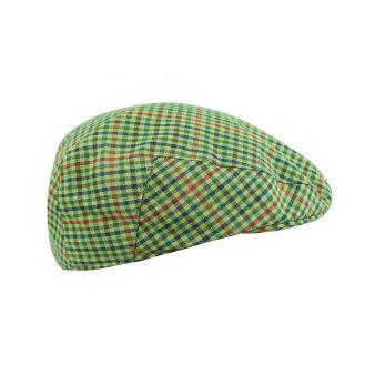 Gorra campera verde y rojo