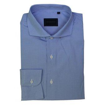 Camisa vestir vichy celeste