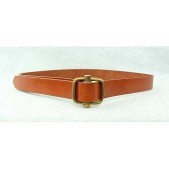 Cinturón hebilla corredera vaqueta claro