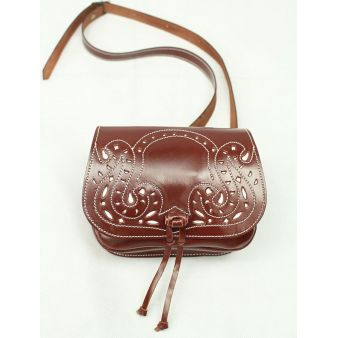 White punched trim bum-bag