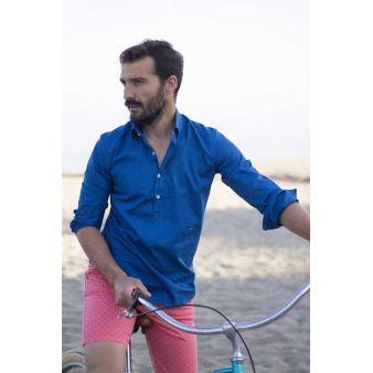 Camisa polera azulón