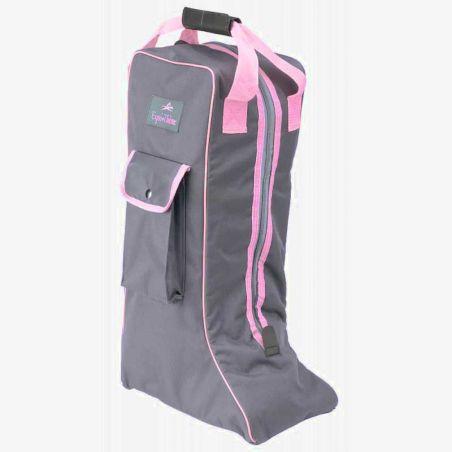 Bolsa para botas gris/rosa