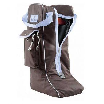 Brown / sky blue boot bag