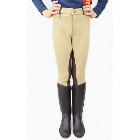 Breeches niño beig y chocolate