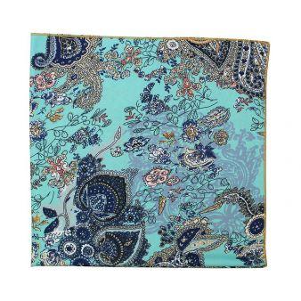 Sky blue cashmere neck scarf