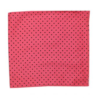 Coral coloured polka dot...