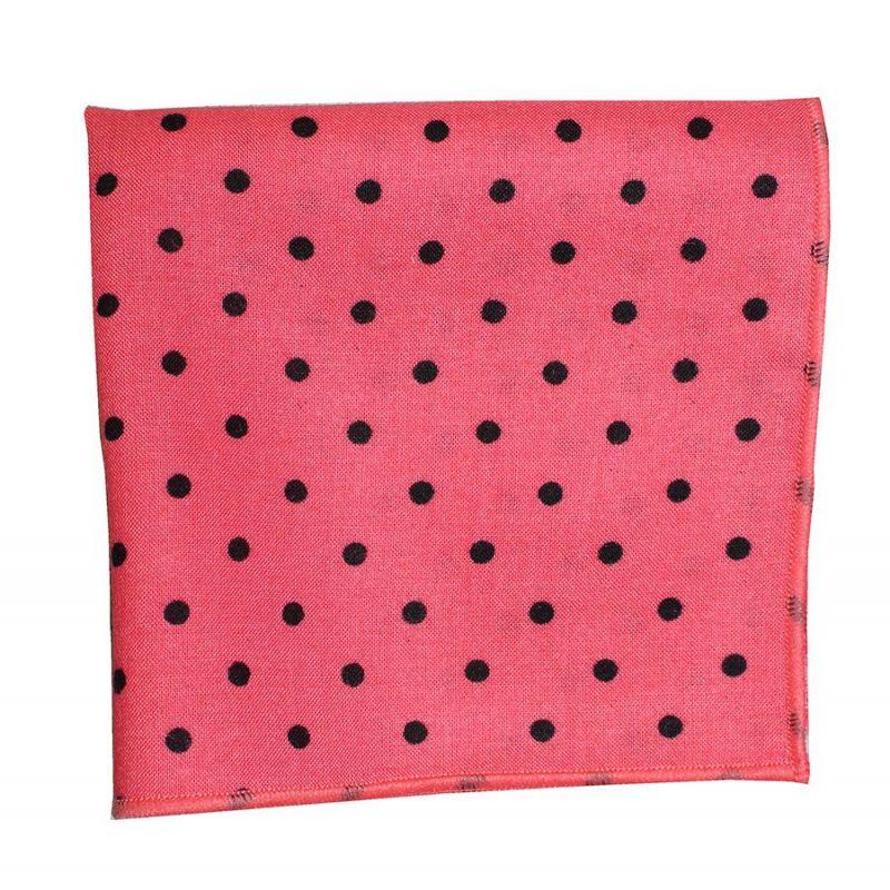 Pañuelo bolsillo lunares coral
