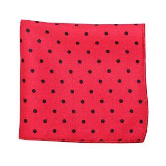 Pañuelo bolsillo lunares rojo