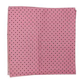 Pañuelo cuello lunares rosa