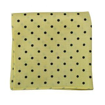 Pañuelo bolsillo lunares amarillo