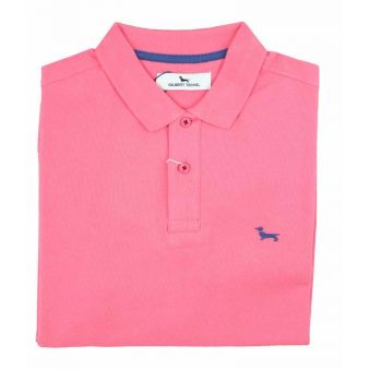 Fuchsia short sleeve polo...
