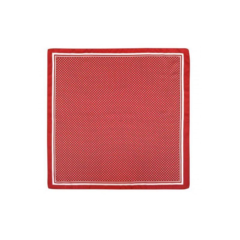 Pañuelo infantil rojo con lunares