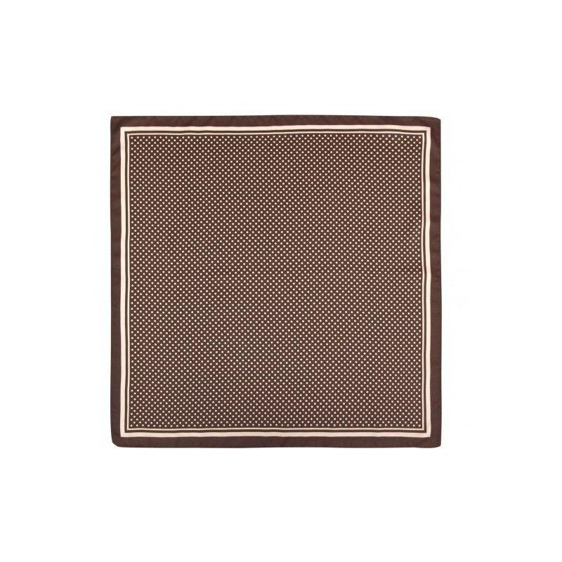 Pañuelo infantil marrón con lunares