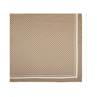 Beige scarf with polka dots