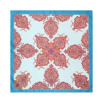 Turquoise border scarf