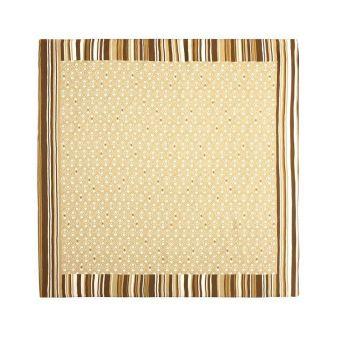 Striped beige scarf