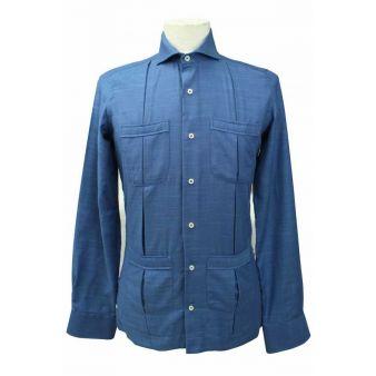 Camisa algodón marino