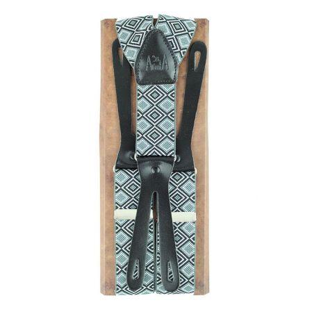 Tirantes elasticos étnico gris 35 cm