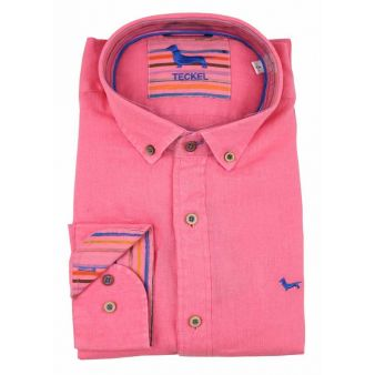 Camisa cuello botón fresa