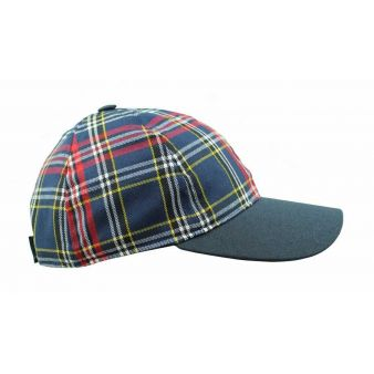 Checked baseball cap with...