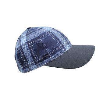 Gorra beisbol cuadros azul