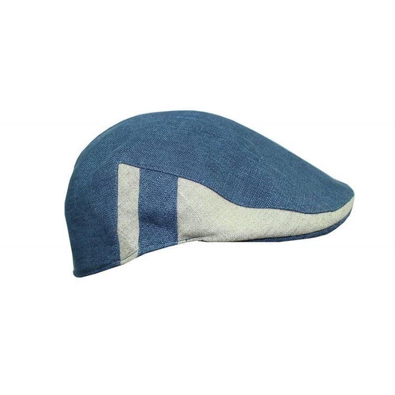 Gorra campera azul y beig