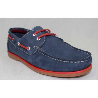 Blue laced deck shoe