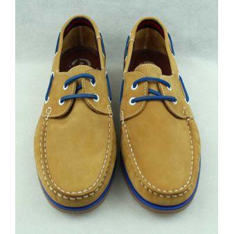 Zapato Náutico cordones camel