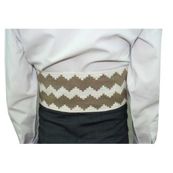 Infant's brown and white sash