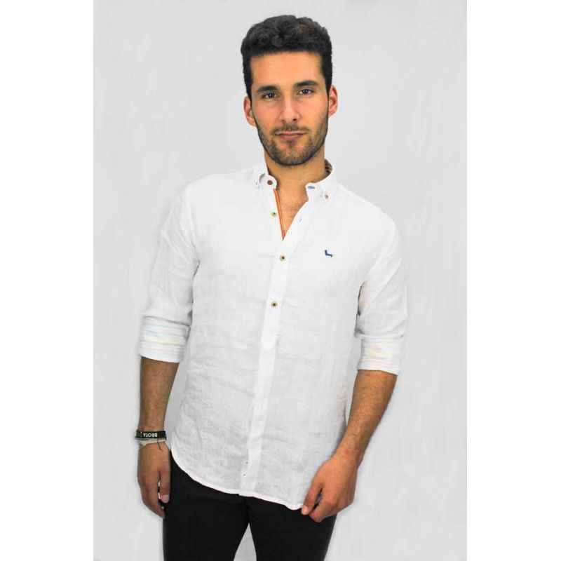 Camisa cuello botón blanco