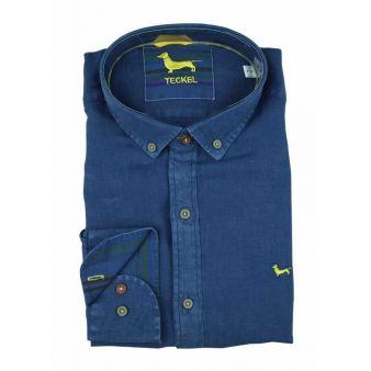 Camisa cuello botón marino