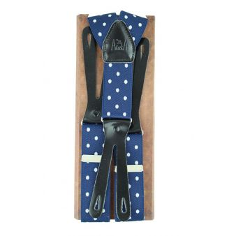 Elastic braces in blue with...