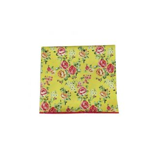 Yellow floral pocket...