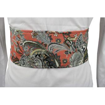 Coral patterned sash