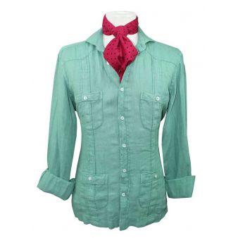 Camisa cubana lino verde