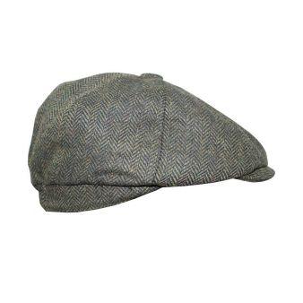 Green Irish herringbone cap