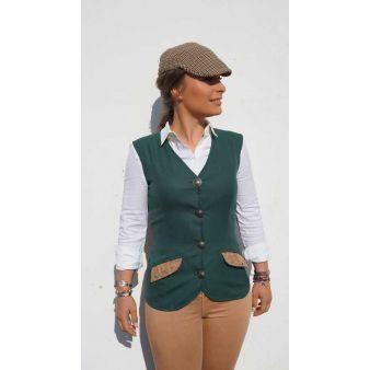 Green Hinojo model waistcoat