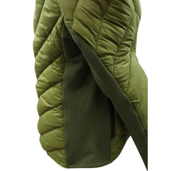 Chaqueta de señora acolchada verde