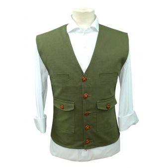 Triana model green waistcoat