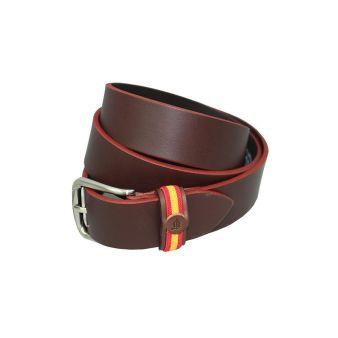 Cinturón bandera marrón