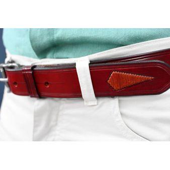 Cinturón artesano vaquero con hebilla inoxidable.