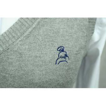 Jersey sin mangas gris