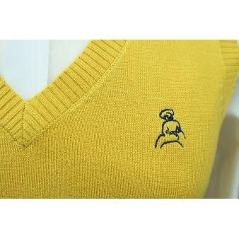 Jersey sin mangas mostaza
