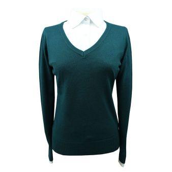 Jersey cuello pico verde