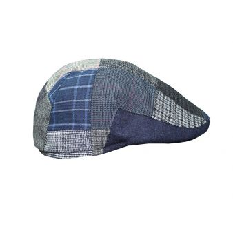 Italian cap with blue patches