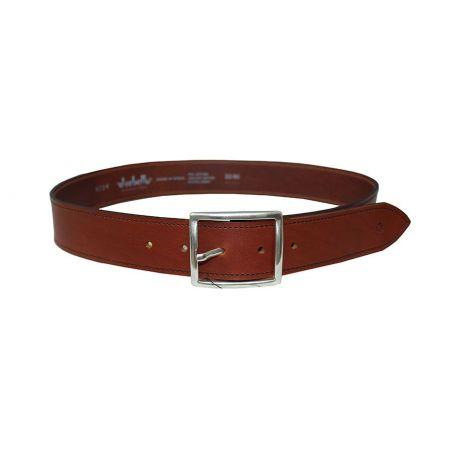 Cinturón hebilla recta marrón
