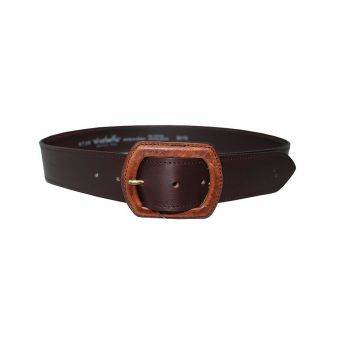 Brown lined belt with buckle