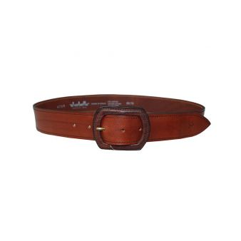 Leather lined belt with buckle